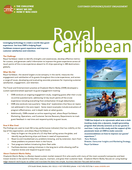 Royal Caribbean Case Study