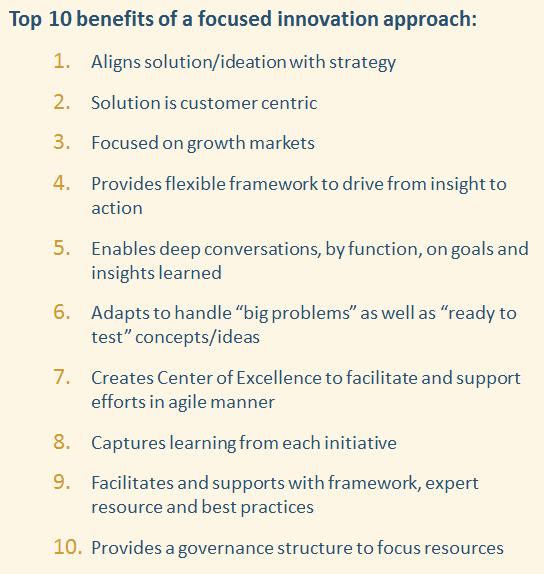 CMB Focused Innovation