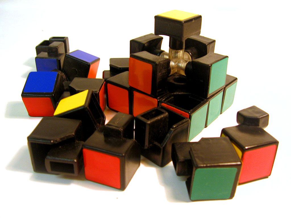 Disassembled rubix 1
