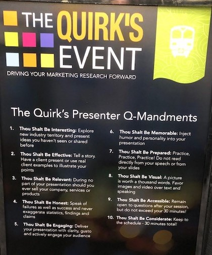 Quirks 10 Q-mandments 2019