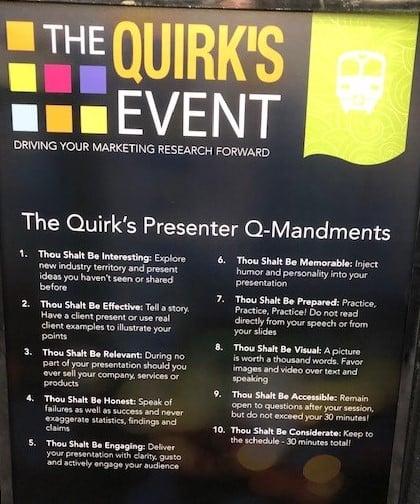 Quirks 10 Q-mandments 2019