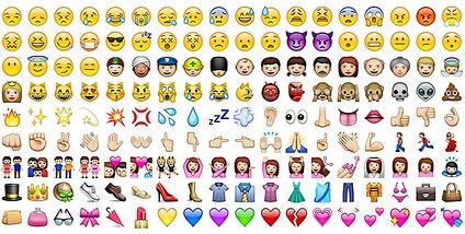 emojis, language, branding